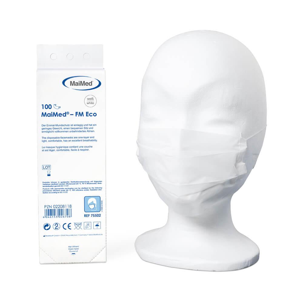 Mundschutz Nasenschutz Maske Gummiband unsteril aus Papier 1-lagig 100 Stk Box